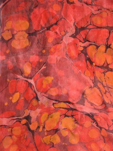 Wall Art - Painting - Hot Lava Marble by Rose Wark