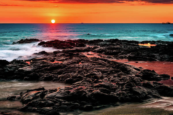 Photograph - Hot Lava Sunset by John Hight
