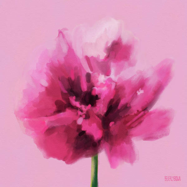 Framed Painting - Hot Pink Carnation by Beverly Brown