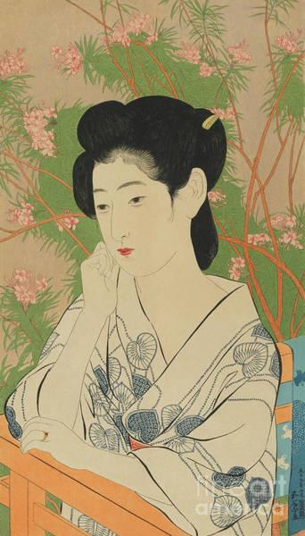 Wall Art - Painting - Hot Spring Hotel, Onsen Yado, Taisho Era, July 1920 by Goyo Hashiguchi