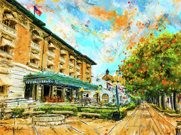 Painting - Hot Springs, Arkansas Bath House by Lourry Legarde