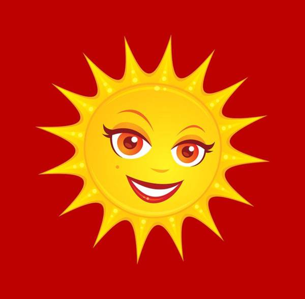 Cheerful Digital Art - Hot Summer Sun by John Schwegel