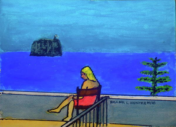 Painting - Hotel Balcony At Stromboli by Frank Hunter