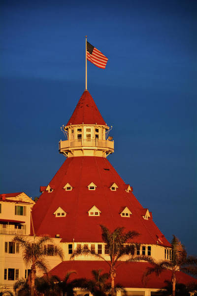 Photograph - Hotel Del Coronado Sunset Portrait by Kyle Hanson
