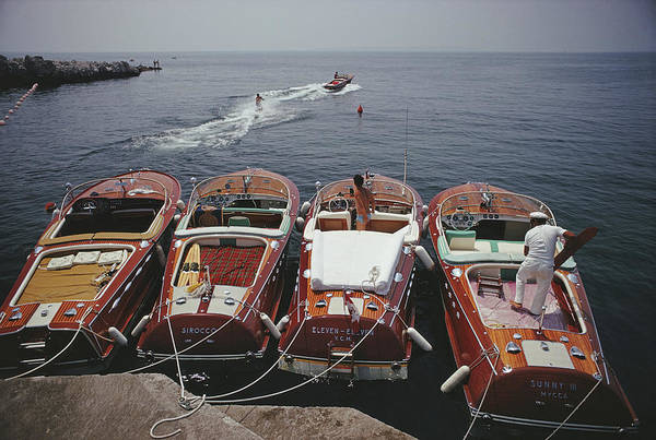 Group Of People Photograph - Hotel Du Cap-eden-roc by Slim Aarons