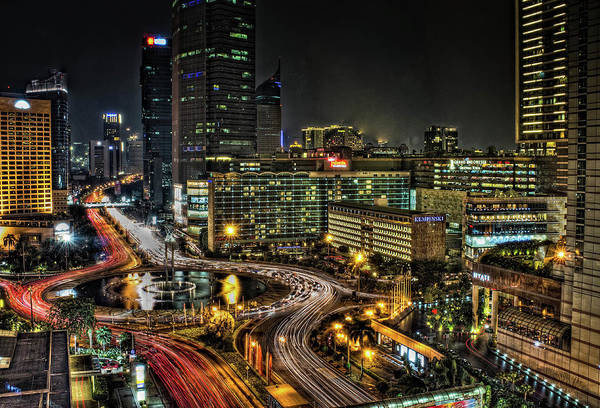 Jakarta Photograph - Hotel Indonesia Roundabout by David Fletcher