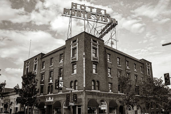 Photograph - Hotel Monte Vista In Sepia - Route 66 - Flagstaff Az by Gregory Ballos