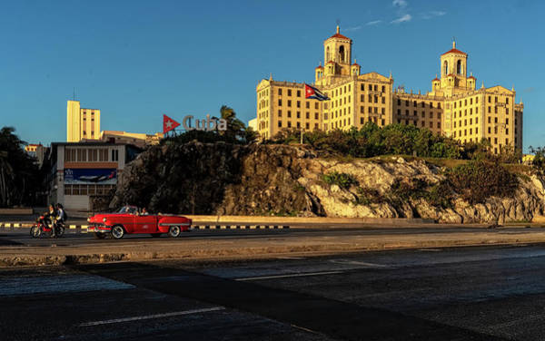 Photograph - Hotel Nacional And Red Car by Tom Singleton