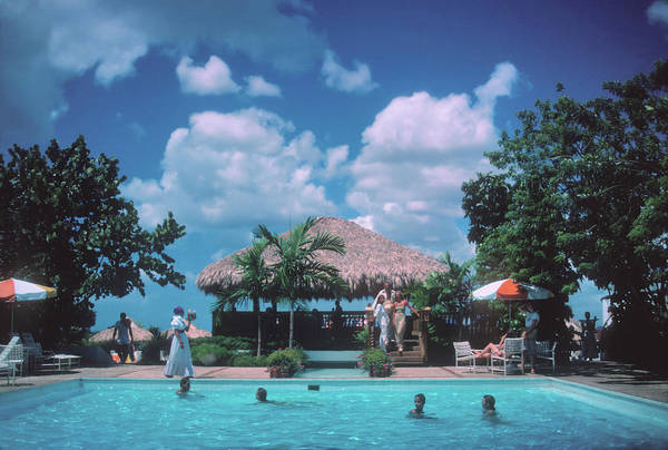 Dominican Republic Photograph - Hotel Pool by Slim Aarons