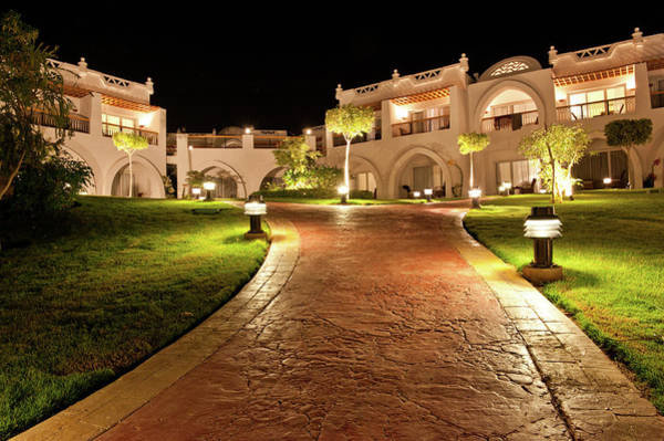 Luxury Hotel Photograph - Hotel Resort By Night by Cunfek