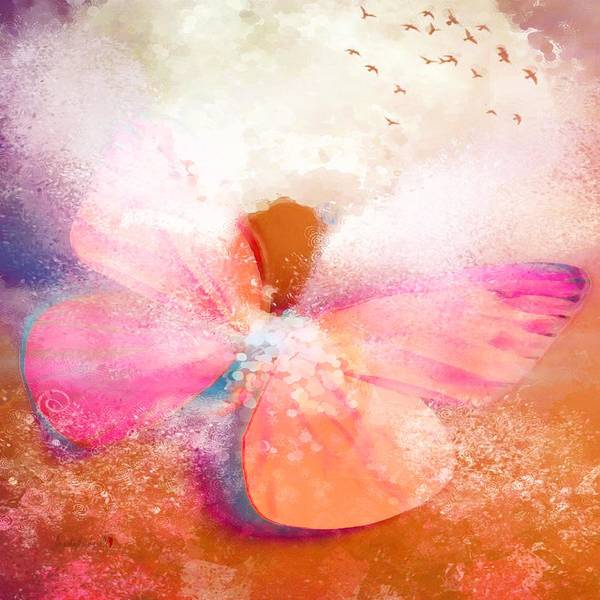 Digital Art - Hotty Totty Angel With Butterfly Wings by Catherine Lott