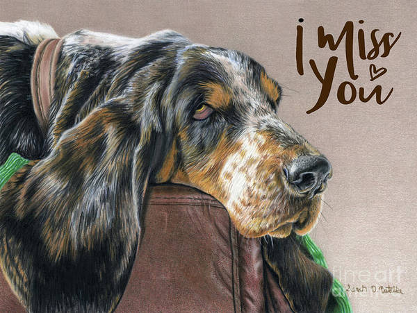 Wish Painting - Hound Dog- I Miss You  by Sarah Batalka