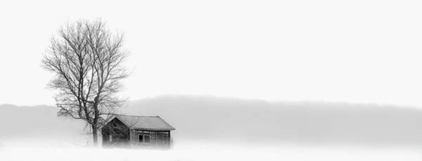 Charlevoix Photograph - House And Bare Tree In Snowy Landscape by Chris Clor