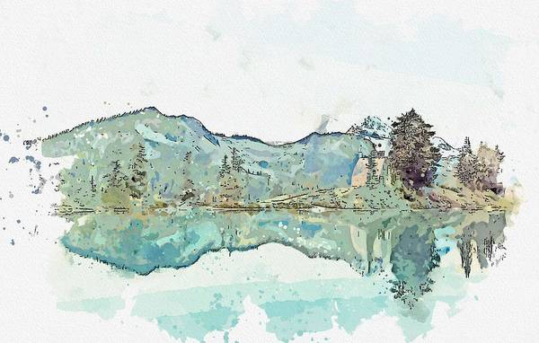 Wall Art - Painting - House By The Elfin Lakes, Canada Watercolor By Ahmet Asar by Ahmet Asar