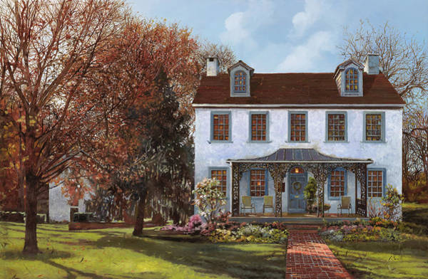 Home Painting - house Du Portail  by Guido Borelli