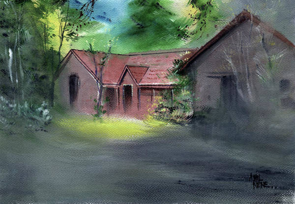 Painting - House In Dream by Anil Nene
