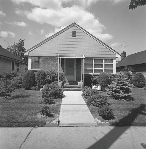 Suburbs Photograph - House In Suburban Area, B&w by George Marks