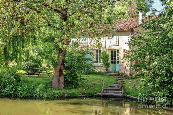 Wall Art - Photograph - House In The Marais Poitevin by Delphimages Photo Creations