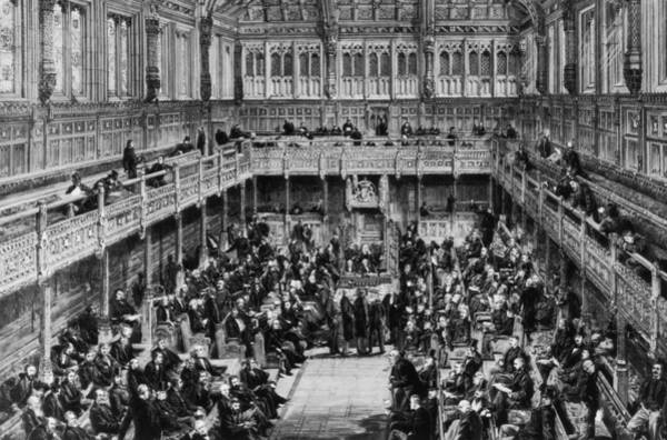 Houses Of Parliament Photograph - House Of Commons Interior by Hulton Archive