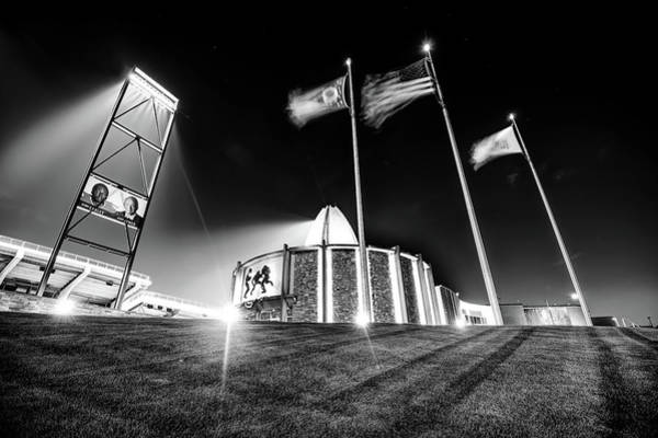 Photograph - House Of Greatness - Pro Football Hall Of Fame - Canton Ohio Monochrome by Gregory Ballos