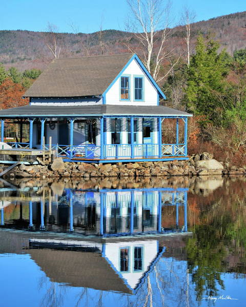 Photograph - House On The Lake by Harry Moulton