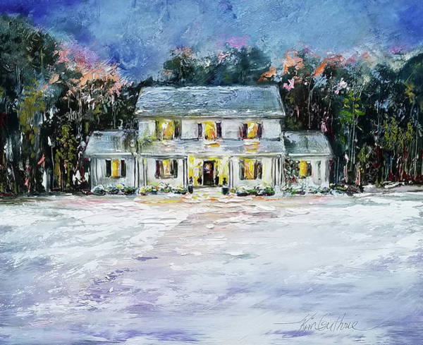 Wall Art - Painting - House Portrait Oil Painting by Kim Guthrie