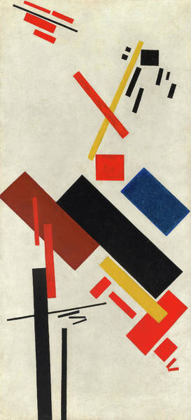 Wall Art - Painting - House Under Construction, 1916 by Kazimir Malevich