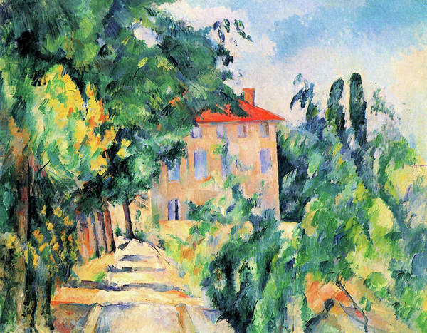 Wall Art - Painting - House With Red Roof - Digital Remastered Edition by Paul Cezanne