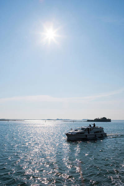Friuli Photograph - Houseboat In Laguna Di Grado Lagoon by Holger Leue