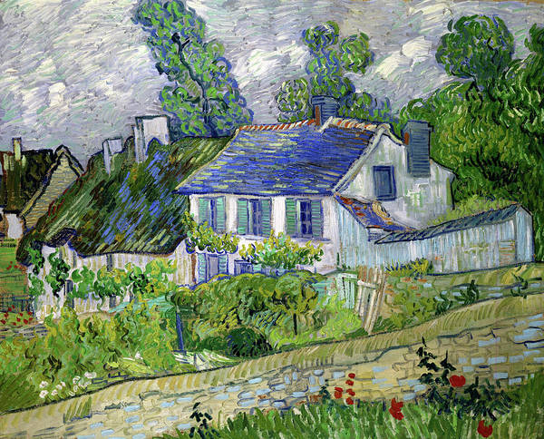 Wall Art - Painting - Houses At Auvers, Houses In Auvers - Digital Remastered Edition by Vincent van Gogh