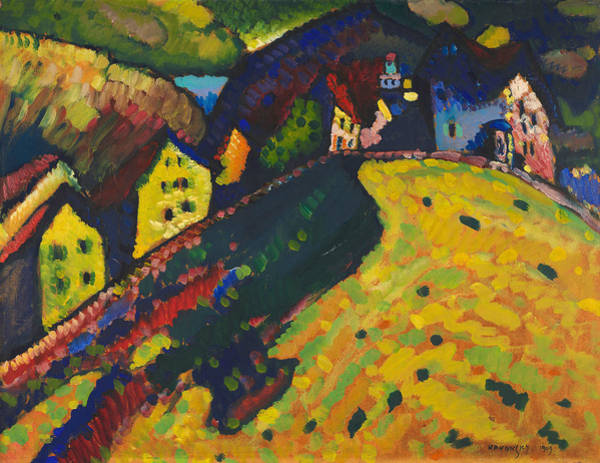 Painting - Houses At Murnau by Wassily Kandinsky