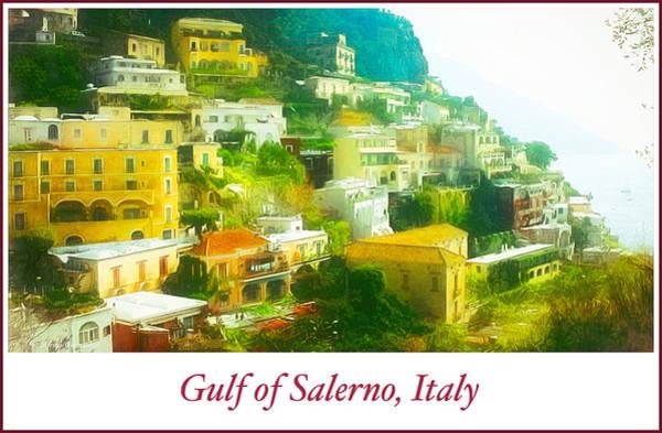 Digital Art - Houses, Gulf Of Salerno, Italy by A Gurmankin