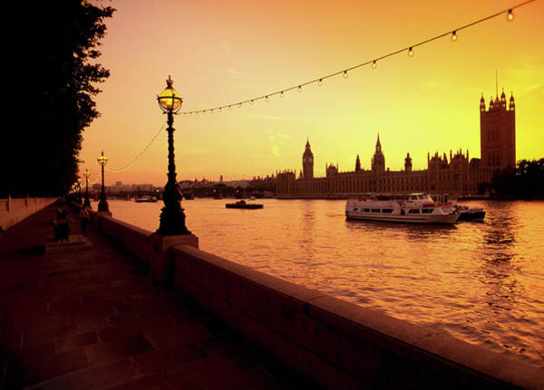 Houses Of Parliament Wall Art - Photograph - Houses Of Parliament, As Seen At Sunset by Medioimages/photodisc