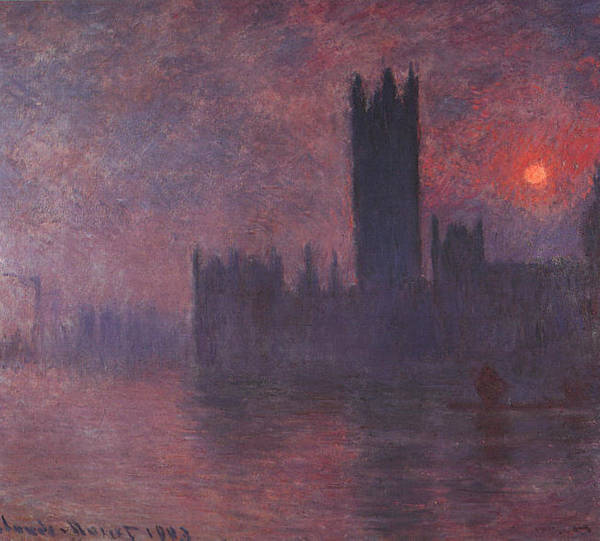 Wall Art - Painting - Houses Of Parliament At Sunset, 1903 by Claude Monet