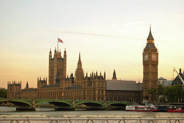 South Bank Photograph - Houses Of Parliament From The South Bank by Sharon Vos-arnold