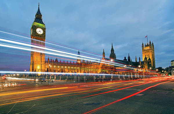 The Clock Tower Photograph - Houses Of Parliament by Ray Wise