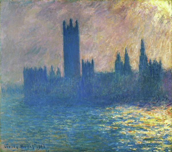 Houses Of Parliament Wall Art - Painting - Houses Of Parliament, Sunlight Effect - Digital Remastered Edition by Claude Monet