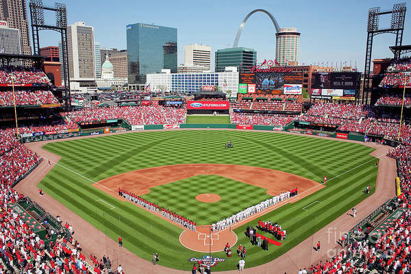 Photograph - Houston Astros V St. Louis Cardinals by Dilip Vishwanat