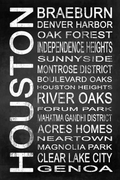Wall Art - Digital Art - Houston Tx 5 by Melissa Smith