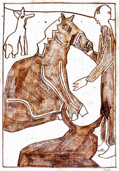 Photograph - How The Camel Got His Hump Digital And Drawings D17-1 by Artist Dot