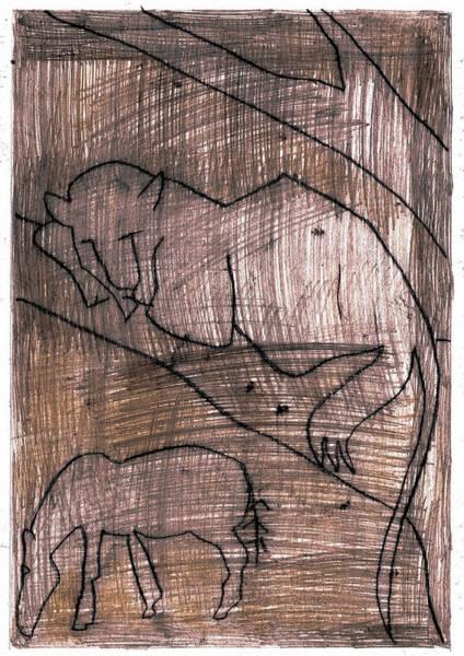 Digital Art - How The Leopard Got His Spots Dr13ed1 by Artist Dot