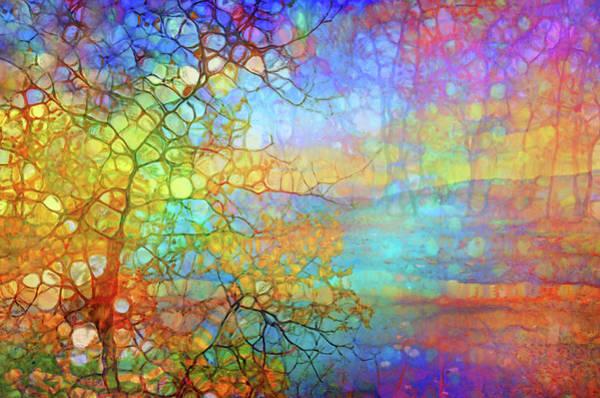 Cheery Digital Art - How The Tree Reimagines The Sunset by Tara Turner