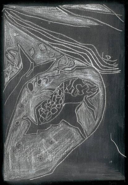 Digital Art - How The Whale Got His Throat 55-1 by Artist Dot