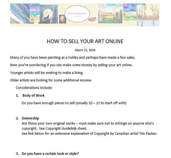 Mixed Media - How To Sell Online-pt1 by Monika Shepherdson