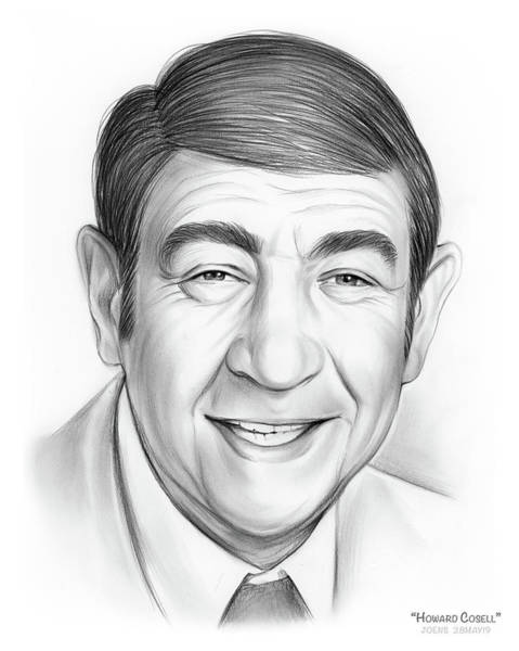 Television Drawing - Howard Cosell by Greg Joens