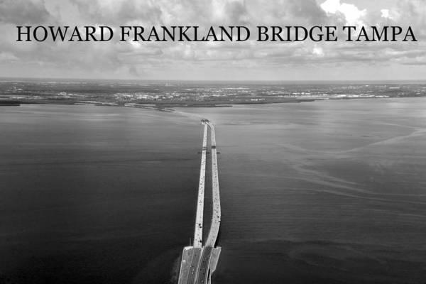 Wall Art - Photograph - Howard Frankland Bridge Aerial by David Lee Thompson