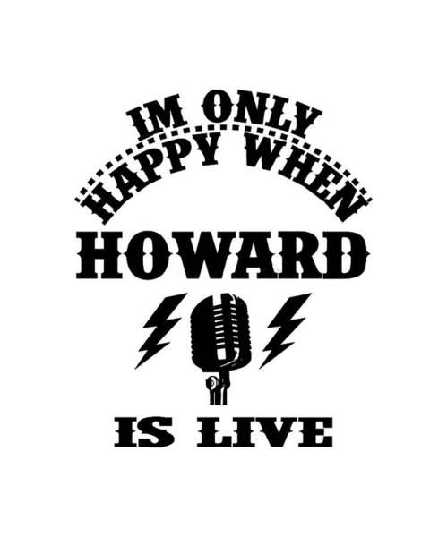 Howard Stern Wall Art - Digital Art - Howard Is Live by Fermain Alambana