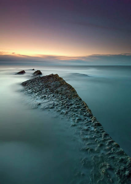 High Water Mark Photograph - Howick Scar At Sunrise by Mark Southgate