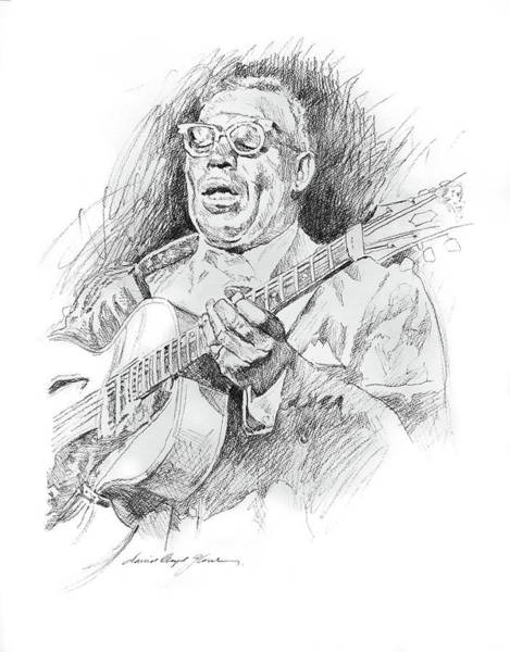 Drawing -  Howlin' Wolf by David Lloyd Glover