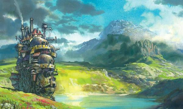 Totoro Digital Art - Howl's Moving Castle by Cute creepy K